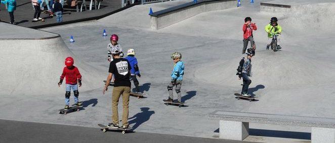 animation skatepark Anglet kids skate school